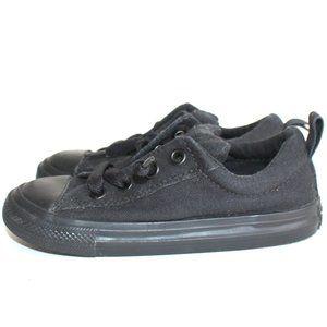 Infant Black Converse All Star Low Top Shoes Sz 10